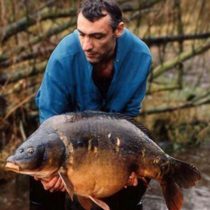 Jumbo (41lb 9oz) / Ричи МакДональд (Ritchie McDonald) / Yateley Pads Lake / 1991 г.